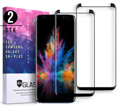 2x 3D Panzerfolie für Samsung Galaxy S8 Plus Schutzglas Full Screen Display Glas