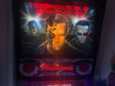 "Williams Pinball, Flipper ""Terminator 2"" DMD und original Sound-Platine"