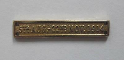 FULL SIZE - MONS CLASP FOR WWI. 1914 STAR  5th. Aug - 22nd Nov 1914.