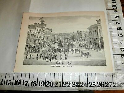 1878 Watertown Ny Public Square Engraving
