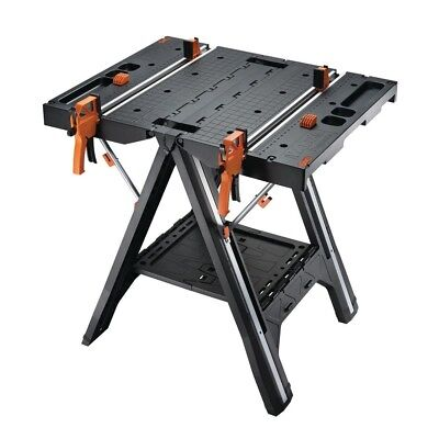Worx Pegasus Multi-Function Work Table and Sawhorse with Quick Clamps and Pegs