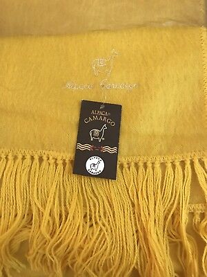 "NWT Alpaca Gray Color Made in Peru Brushed Fine Fiber Scarf Woven 65/"" x 9/"""