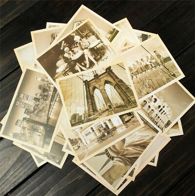 32Pcs Box Set Vintage Landscape Travel Postcard Photo Picture Poster Post Card ^
