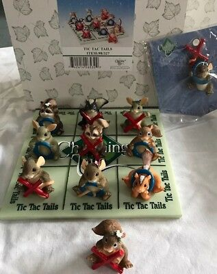 SIGNED & DATED by DEAN CHARMING TAILS TIC TAC TAILS & PIN Tic Tac Toe 89/327 MIB