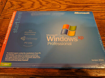 NEW Sealed Gateway Microsoft Windows XP Professional Ver 1.4 2002