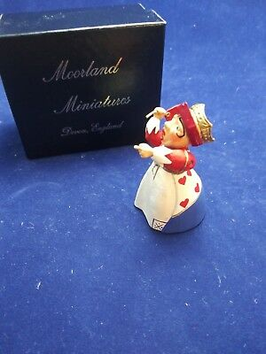 Moorland Miniatures Alice In Wonderland Pewter Figurine Queen Of Hearts