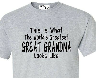 Worlds Greatest Great Grandma T Shirt Mothers Day Gift - 16 Colors Size SM - 6X
