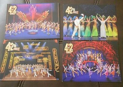 42Nd Street London Musical Post Cards X 4 Mint Rare Theatre