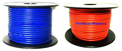 16 Gauge 100' ft each Blue Orange Auto PRIMARY WIRE 12V Car Wiring Power Cable