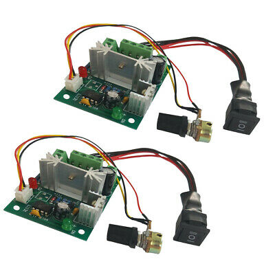 2PCS DC 6A Motor Speed Control Reversible PWM Controller Switch DC 6V-30V