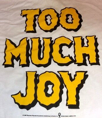 TOO MUCH JOY .... finally VINTAGE RARE Uncensored 1996 official Tour Shirt TMJ