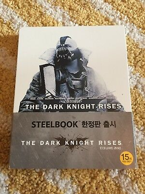 Batman The Dark Knight Rises - Steelbook Blu Ray - Edition Korean - No Sealed