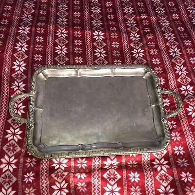 Tarnished Silver Plated Serving Tray