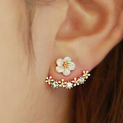 1 Pair Small Daisy Flower Shape Hanging Earrings for Girls Friendship Gifts SP