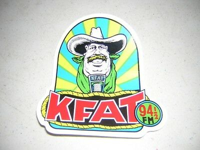vintage unused sticker KFat 94 FM Radio now KPig Santa Cruz Gilroy California
