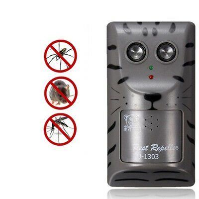 Electronic Ultrasonic Pest Control Repeller Rat Mosquito Mouse Insect Rodent