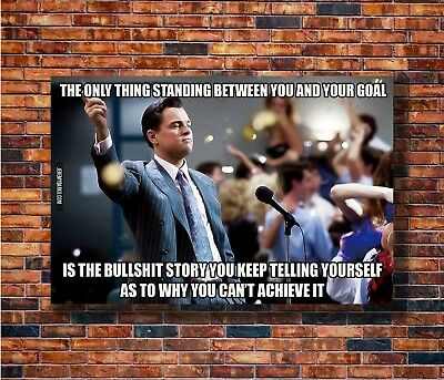 Art The Wolf Of Wall Street Movie Dicaprio Motivational Poster - Hot Gift C3081