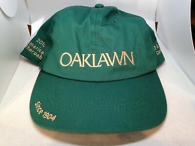 Oaklawn Park Horse Racing Hot Springs AR Cap Hat Green H.O.Y. American Pharoah