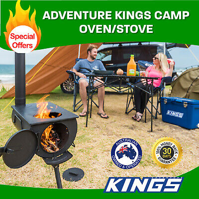 Kings Camp Oven Stove   Fully Enclosed   Adjustable Chimney   Packs Away Small