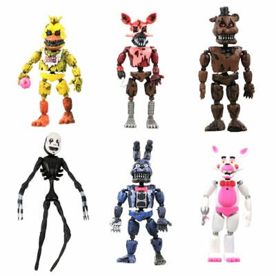 6Pcs FNAF Five Nights at Freddy's Action Figures Toys Kids Gift Xmas Removable