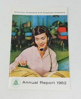 Vintage AT&T ANNUAL REPORT 1962 American Telephone And Telegraph Co Bell System
