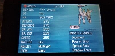 MYTHICAL ARCEUS EVENT Code for Pokemon X/Y & ORAS 3DS