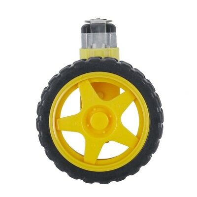 1X(1:48 Pneumatic Tire Wheel with DC 3-6V Gear Motor for Arduino Smart Car Z5F1)
