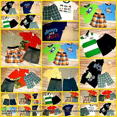 Nwt Gymboree Boys Size 3 3T Huge Lot Summer Spring Outfit shorts Top Set RV $370