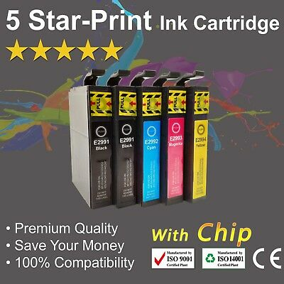 5 Ink Cartridges for Epson 29XL XP235 XP245 XP335 XP432 XP435 XP442 with chip