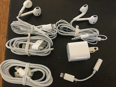Original Apple iPhone Lightning USB Cable Headphones 6 7 4s 5s iPad 6s Plus 8 X