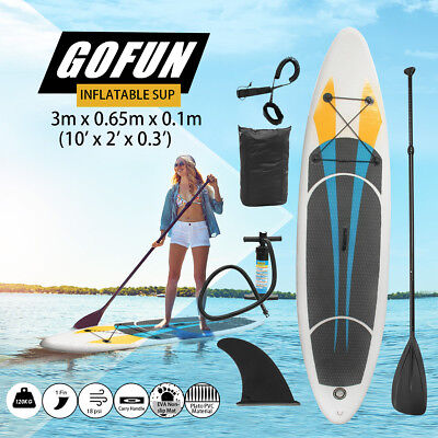 New GoFun 11' Stand Up Paddle Board SUP Inflatable Paddleboard Kayak Surf Board