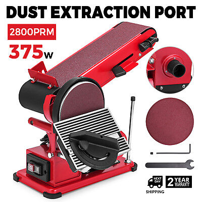 Belt Disc Sander Bench Grinder With Dust Extraction Port 2800RPM Bench Sanding