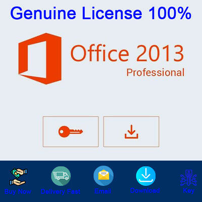 Office 2013 Professional Plus License Key Activation For 1PC Genuine