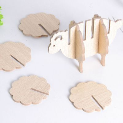 Sheep Shape Anti-slip Non-heat Pine Coasters Place Mat Coffee Cup Pad DIY