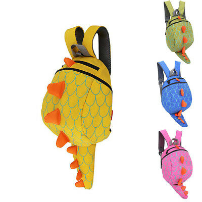 Lovely Kids Toddlers Dinosaur With Safety Leash for Boys Girls Animal Backpack