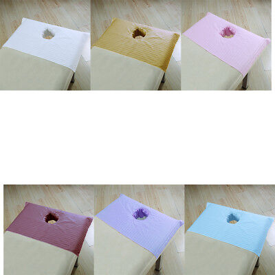Baoblaze 75x55cm Beauty Bed Sheets SPA Massage Treatment Bed Cover with Hole