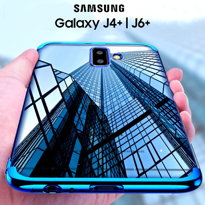 COVER per Samsung Galaxy J4+/J6+ PLUS Tpu ORIGINALE ELECTROPLATING SLIM Case