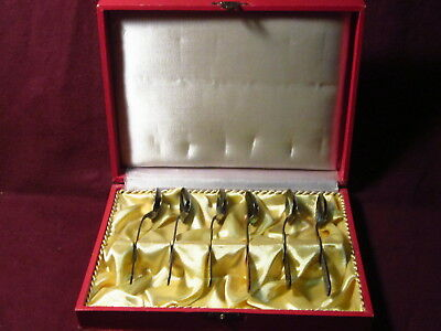 6 Enameled  Sterling 925REU DEMITASSE SPOON in original box 60g