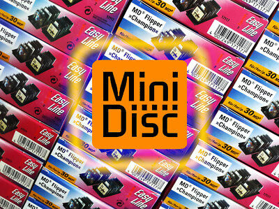 10x MiniDisc stand storage system (MD Mini Disk) factory packaging - E