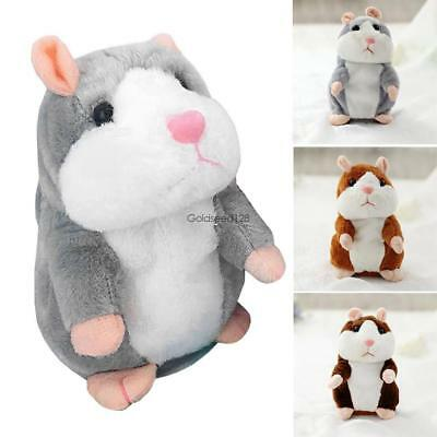 Cheeky Hamster Repeats What You Say Electronic Pet Talking Plush Toy Cute Gift G