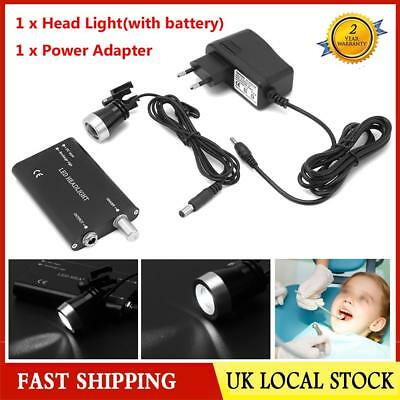Dentist Surgical LED Head Light Lamp Black For Dental Loupes Medical 1W Portable