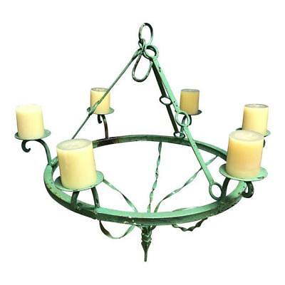 Green Iron Candle Chandelier