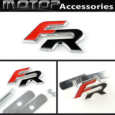 Supercharged 3D Metal Red Script Front Grill Badge Emblem Land Rover Audi