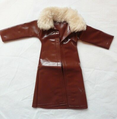 Vintage Mini Mod 1983 brown coat with furry collar made by Shillman *reduced*