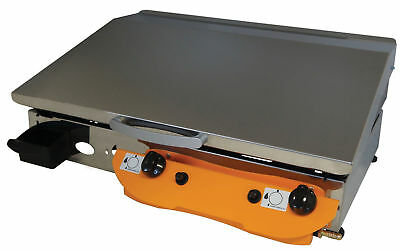 LPG Gas Griddle Hot Plate Barbecue 65x40 cm Professional Gasgrill Stahl-Plancha