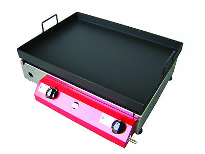 LPG GAS GRIDDLE / FRYER / GRIDDLE 51 x 40 cm Gasgrill Stahl-Plancha