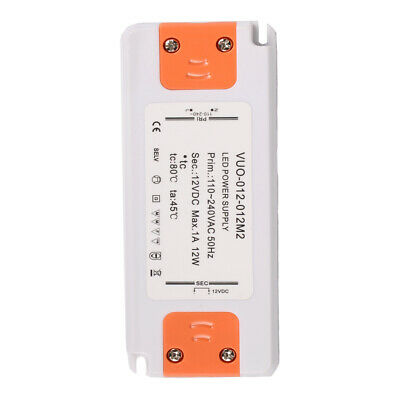 12W 1A 12V Thin LED Driver Transformer Power Supply