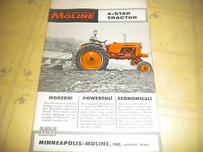 Minneapolis Moline 4Star Tractor brochure