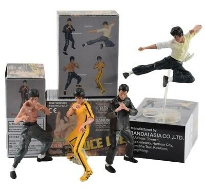 4pcs/set Cool Bruce Lee Kung Fu PVC Action Figures Toy Collectible Bandai