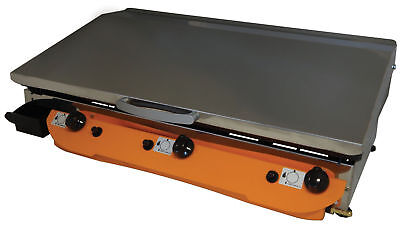 Lpg Griddle Hot Plate Barbecue 80x40 cm XLarge - Gasgrill Stahl-Plancha